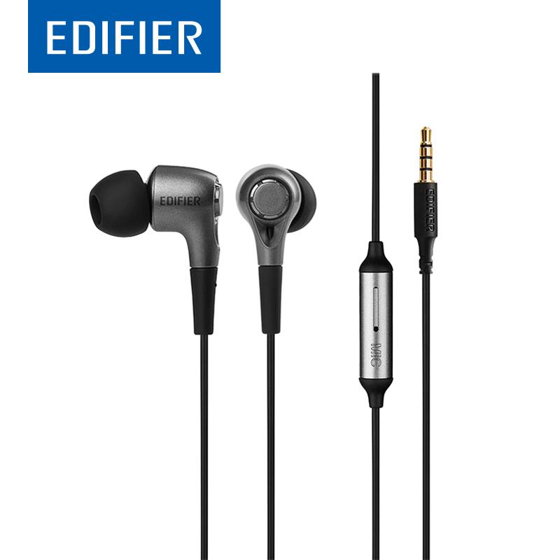 EDIFIER P230 Earphone with Noise Isolation Stereo Bass In-Ear Earphone Support Inline Control With Mic For A Mobile Phone стоимость