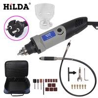 HILDA 25 stks 400 W Dremel stijl Cnc tool Mini Boor met Flexibele As en Accessoires Elektrische Variabele Snelheid Houtbewerking gereedschap