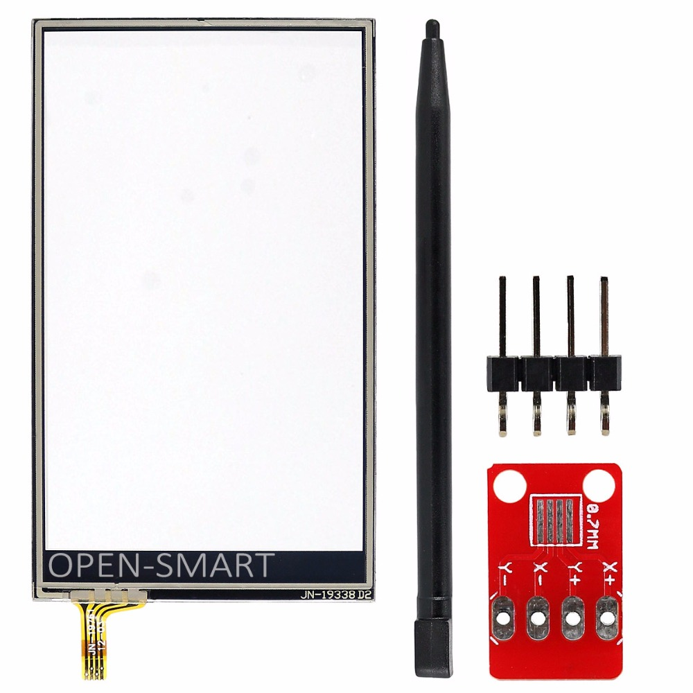 3 2 80 47mm Resistive Touch Screen Kit With Adapter Module for 3 2 Touch Screen
