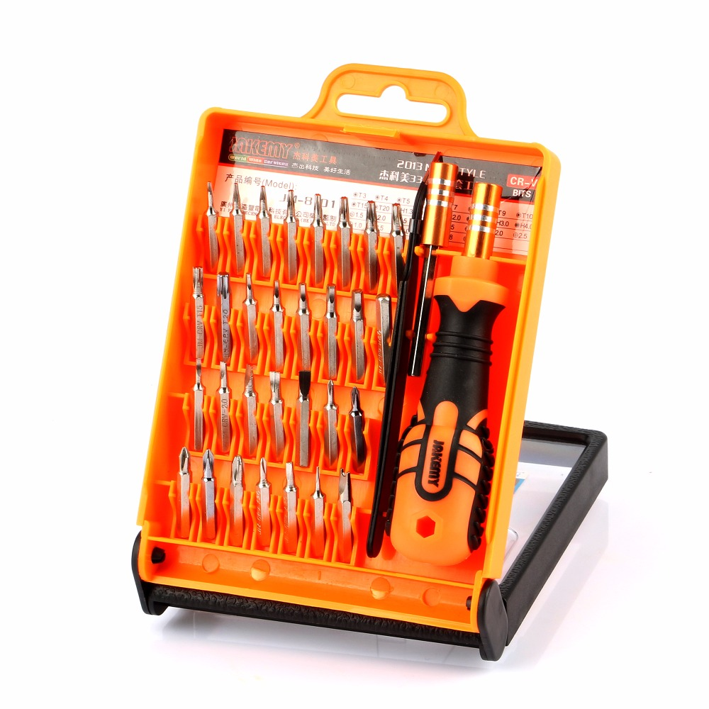 Jakemy 8101 33 in 1 Mobile Phone Repair Tools Kit Opening Tool Screwdriver Set for iPhone iPad Samsung Cell Phone Hand Tool Set new professional 38 in 1 mobile phone repair tools kit opening screwdriver for iphone 5s 5 4s 4 sumsang mulitifuntion tool set
