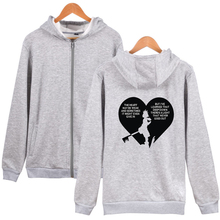 LUCKYFRIDAYF Kpop New Kingdom Hearts trend sala Oversize Hoodies Sweatshirts Men/Women hot Pullover Zippers Clothes