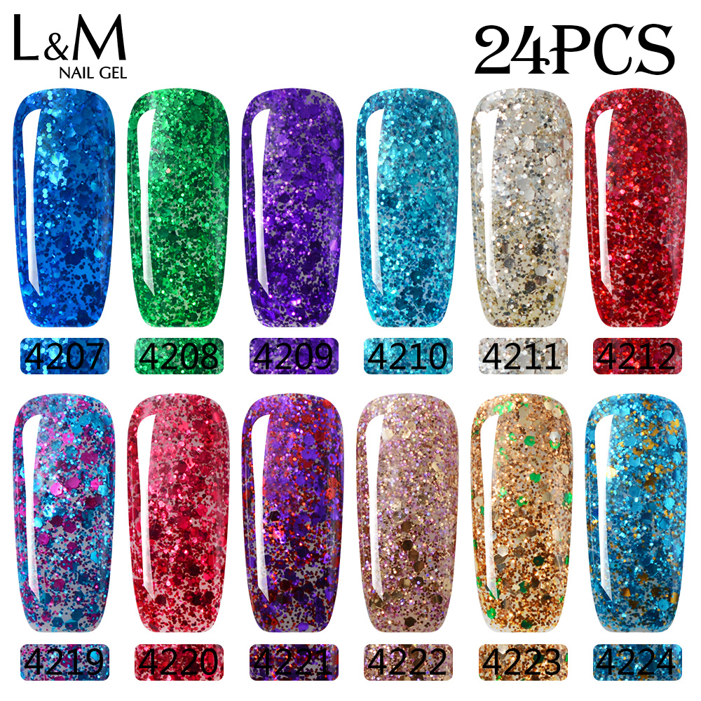 Online Shop 24 stks veel Nieuwe Product Diamond Glitter Lvmay Merk ...