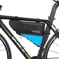 ROSWHEEL Full Waterproof 4 L Large Capacity Bicycle Front Bag MTB Cycling Baskets Packing Pannier Bike