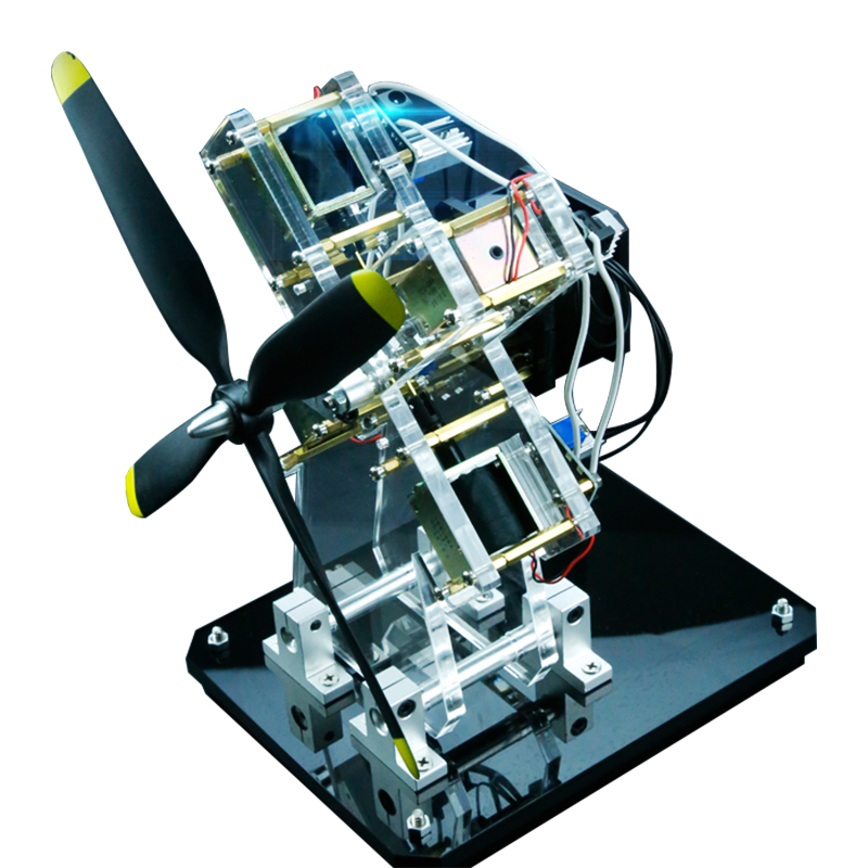 Star engine electromagnet engine multi-cylinder engine startable aircraft engine model
