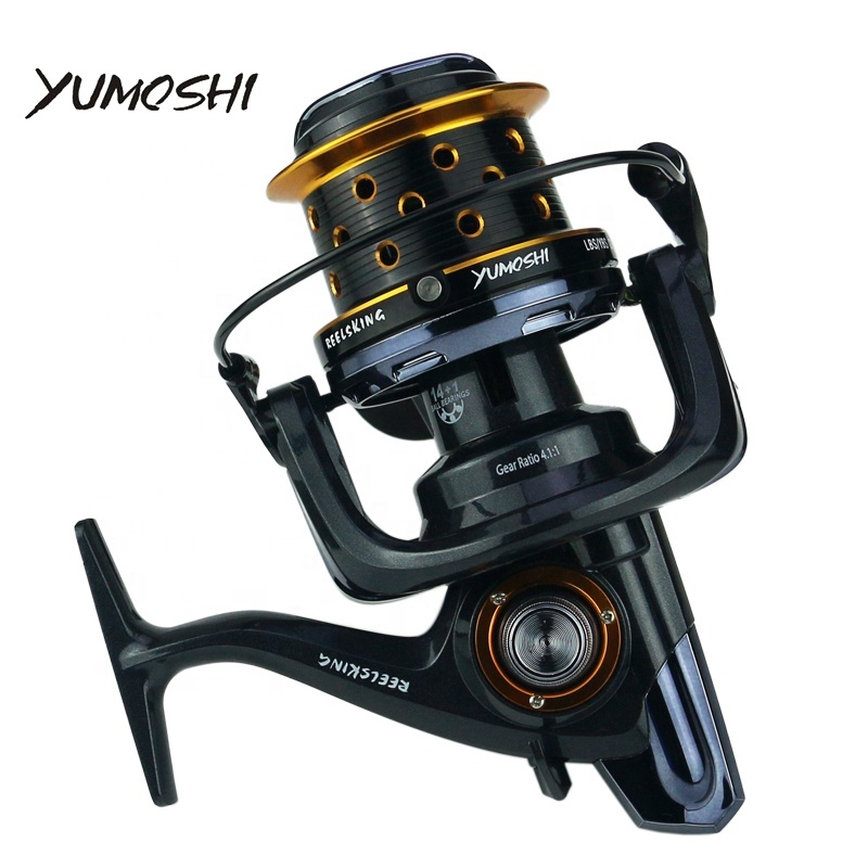 High Quality Yumoshi Series TK 8000 9000 10000 Metal Surf Reel Long Casting Fishing Reels