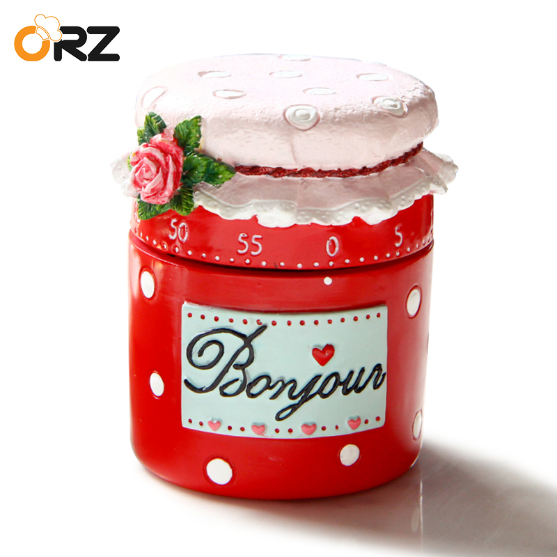 ORZ Lovely Mechanical Kitchen Timer Alarm Clock Cooking Countdown Dial Timers Set 60 Minutes Time Reminder