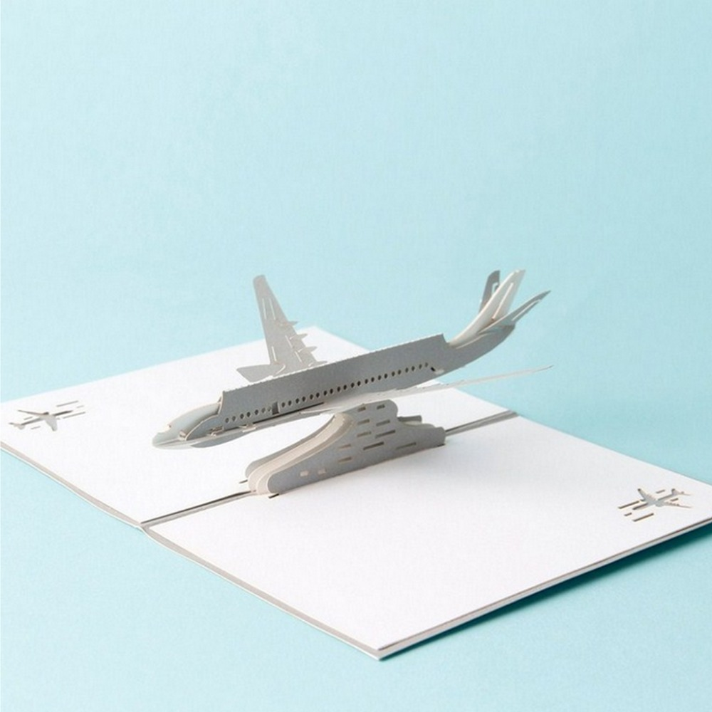 Low Price 3D Pop Up Airplane Greeting Cards Christmas Birthday ...