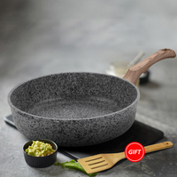Kitchen Frying Pan without Lid Nonstick Stone Derived Coating Saucepan Dishwasher Safe Oven Induction Cooktop Safe Skillet