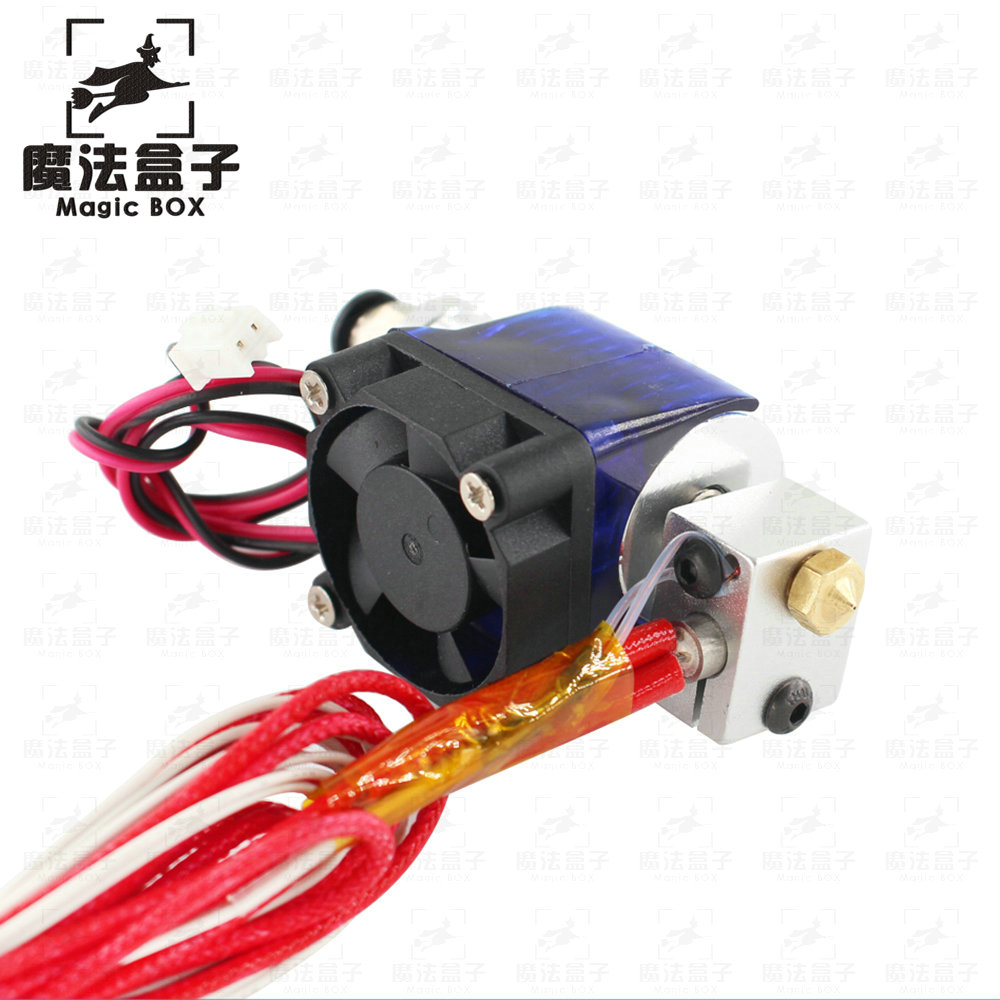 V6 3D Printer Parts J-head hotend Single Cooling Fan for 1.75mm/3mm Bowden Parts Filament Wade Extruder 0.3/0.4/0.5mm Nozzle