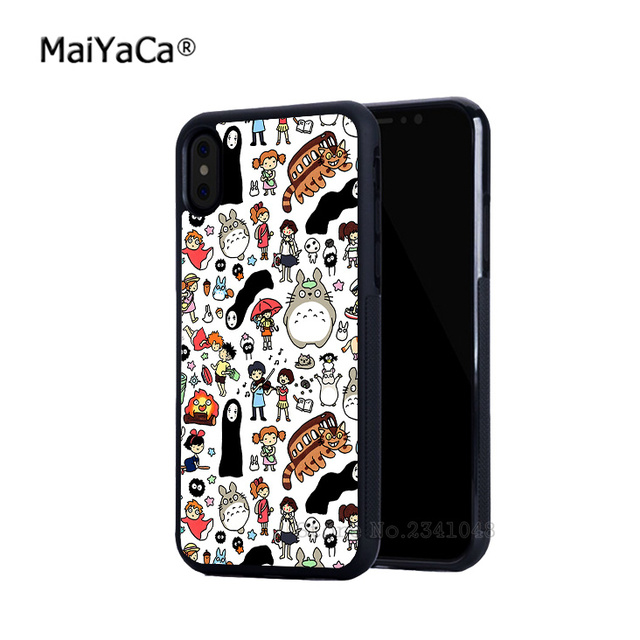 reputable site 62041 31fd0 US $4.48 10% OFF|my neighbor totoro studio ghibli soft edge mobile phone  cases for iPhone 5s SE 6 6s plus 7 7plus 8 8plus X XR XS MAX cover case-in  ...