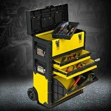 Новое поступление трехслойная Съемная тележка для инструментов, многофункциональная тележка для ремонта оборудования, колеса для строительных инструментов