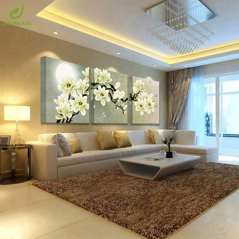 Canvas Painting Wall For Living salon Modular Pictures Kitchen Green Orchid Picture Prints And Posters Room Art Print Flower in Painting Calligraphy from Home Garden