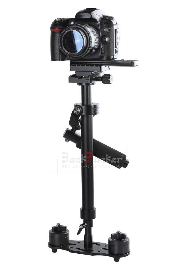 Monopode portatif de trépied de stabilisateur tenu dans la main d'appareil-photo de DSLR de stabilisateur d'appareil-photo portatif de S60 avec la plaque de dégagement rapide S60