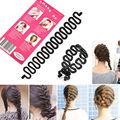 Fashion de Señora Hair Styling Torcedura Del Clip Palillo del Fabricante Del Bollo Del Rodillo Herramienta Braid Cerraduras Accesorios Del Pelo Teje # D236