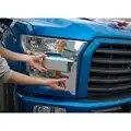 2 pièces/ensemble voiture avant lumière lampe avant gril visage garniture style lunette couverture autocollant pour Ford F150 2015 + accessoires Auto
