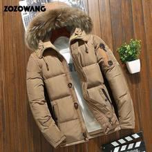 90% para baixo jaquetas homens jaqueta de inverno moda grossa quente parkas pele pato branco para baixo casacos casuais homem à prova dwaterproof água para baixo jaquetas