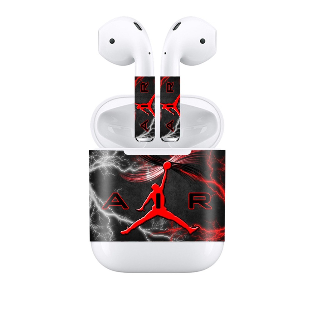 Protective Vinyl Sticker Earphone For Apple AirPods Skins Removable Adhesive Decorative Decal Wrap Head Film Sticker