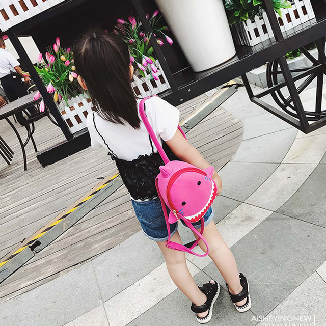 Fashion Kids Backpack Cute Cartoon Animal Bag Creative Shark Shape Canvas Bag Kindergarten Children School Bag ZX314101