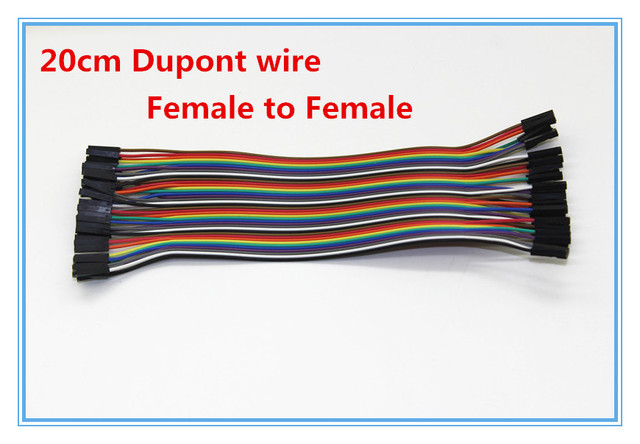 40pcs 20cm 2.54mm 1p-1p pin Dupont wire cable Line connector female to female