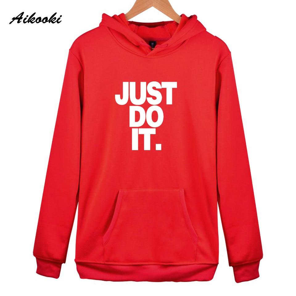 Just Do It Hoodies Women/Men Aikooki Hoodie Men Sweatshirt High Quality Cotton Winter Hoodies women Sweatshirts Just Do It Tops