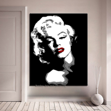 Aritist hand paited Marilyn Monroe Portrait Oil Painting Modern Wall Paintings on Canvas Art pictures for Living Room Home Decor