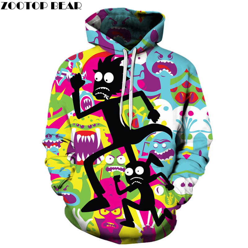 Rick and Morty 3D Hoodies Autumn Sweatshirts Brand Tracksuits Casual Cartoon Pullover Drop Ship Hooded Coat ZOOTOP BEAR