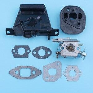 Image 2 - Kit de soporte de filtro de aire para carburador, Colector de admisión para MCCULLOCH MAC CAT 335 435 440, pieza de repuesto para motosierra Walbro Carb