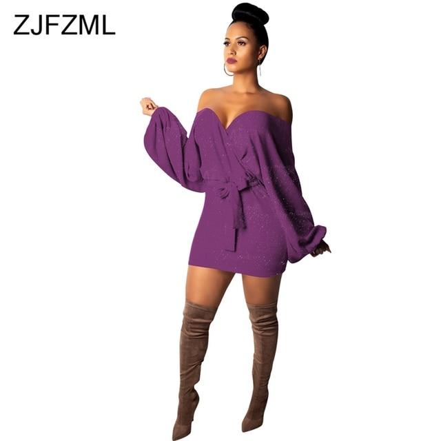 fba0b660cf8 Vestido-de-punto-con-mangas-de-farol-para-mujer -Vestido-de-vendaje-con-hombros-descubiertos-y.jpg 640x640.jpg