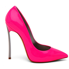 2015 New Brand Genuine Leather shoes woman Stiletto Thin Heel Pointed Toe Women Pumps High Heels Wedding Shoes plus size 3.5-12