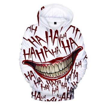 haha joker 3D Print Sweatshirt Hoodies Men and women Hip Hop Funny Autumn Streetwear Hoodies Sweatshirt For Couples Clothes 1