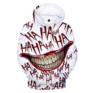 Image 1 - haha joker 3D Print Sweatshirt Hoodies Men and women Hip Hop Funny Autumn Streetwear Hoodies Sweatshirt For Couples Clothes