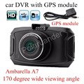 170 Degree wide viewing angle GS90A Ambarella A7 Car DVR Camera HD 2.7 Inch Dash Cam Camcorder with GPS module
