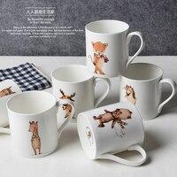 Животных серии, костяного фарфора, творческая чашка кофе, европейский стиль кофе, костюм для кофе и чай черный, Бесплатная доставка