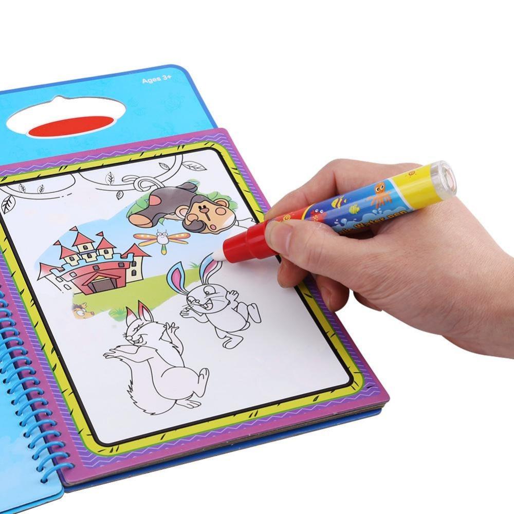 Детские Магия воды Рисунок раскраска Doodle Magic Pen Картина доска для рисования для детей игрушки на день рождения подарок