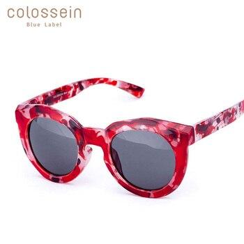 COLOSSEIN lunettes de soleil femmes créateurs de marque de mode lunettes de soleil cadre rond Steampunk UV400 Modis lunettes colorées plein air gafas