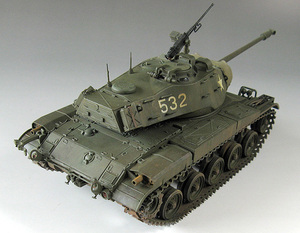 Image 3 - 1:35 modell Gebäude Kits Tank M41 WALKER BULLDOG 35055 Tank Montage DIY