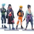2014 nuevos caliente 4 unids/set Naruto 12 cm kakashi itachi sasuke Anime surtido Figures generación colección modelo de juguete