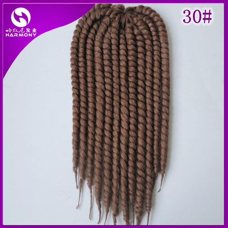 3 Packs Color 30 Harmony Havana Mambo Twist Crochet Braid Hair 2x