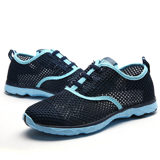 d3fc9a102 Women Breathable Running Shoes Plus Szie 36-47 Summer 2017 Beach Water Shoes  Men Mesh