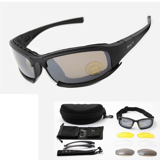 7df4d913bbd X7 Motorcycle Glasse Military Goggles Bullet-proof Army Polarized Sunglasses  4 Lens Hunting Shooting Airsoft Cycling Full Finger