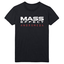 MASS EFFECT ANDROMEDA SCI FI GAMING COMMANDER SHEPARD UNSEX BLACK T SHIRT Fashion Design Free Shipping  Mens Shirts