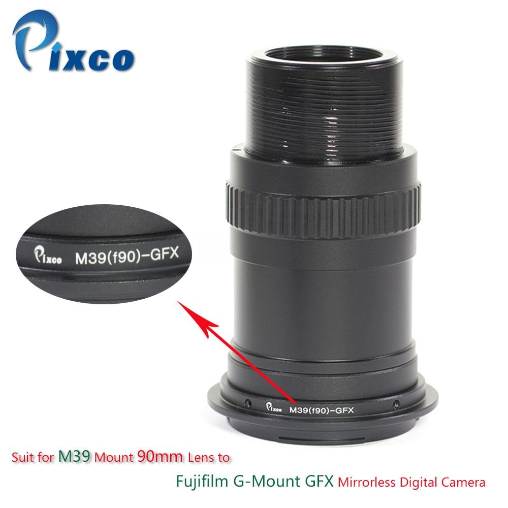 Pixco Lens Adapter Suit for M39 Mount 90mm Lens to Fujifilm G-Mount GFX Mirrorless Digital Camera все цены