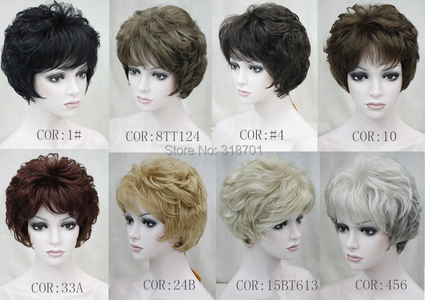 Highest Grade Short Curly Synthetic Hair Wig New Hairstyle