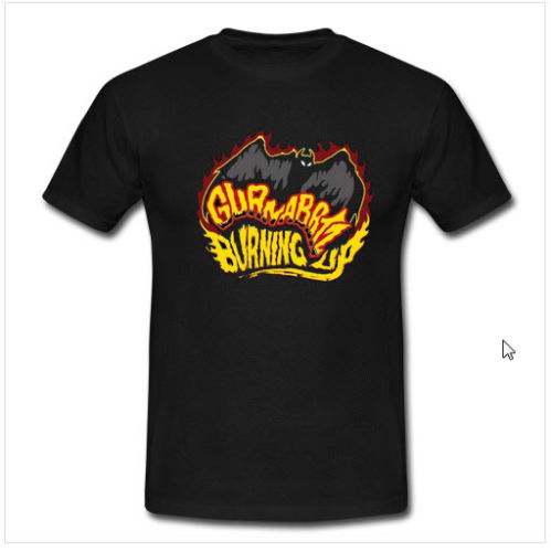 GUANABATZ Burning Up Band T shirt T-Shirt For Men/Boy Short Sleeve Cool Tees
