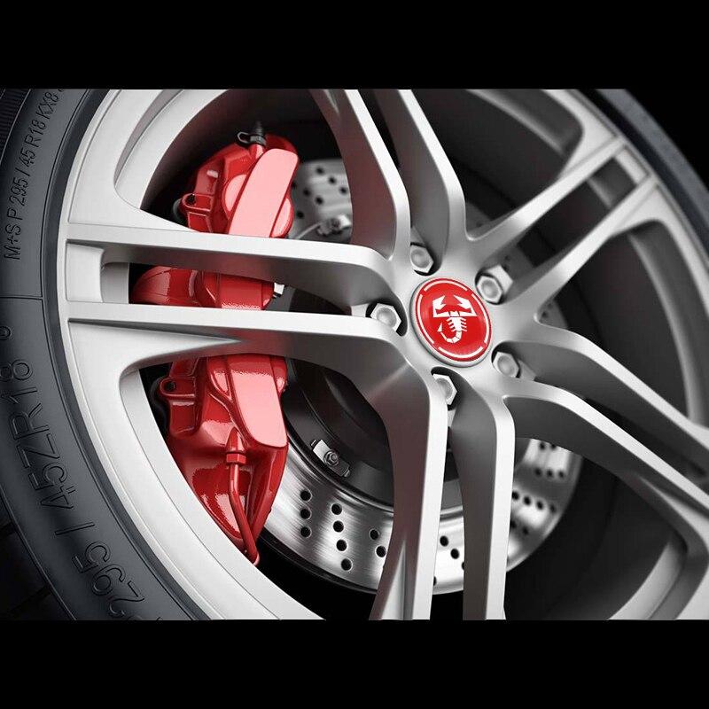 4 шт 56 мм алюминиевая наклейка на обод диска автомобиля скорпиона
