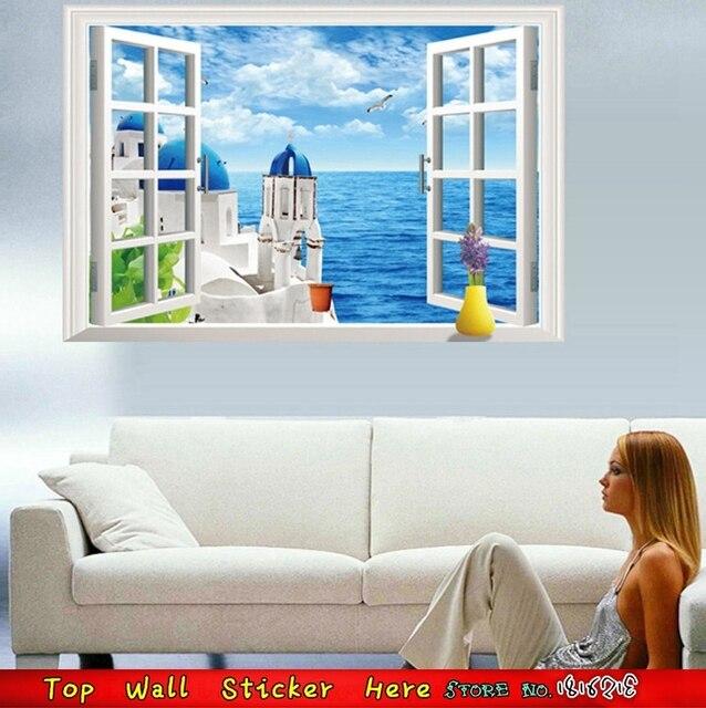 Diy Home Wand Kunst D Blau Sea Sky Landschaft Wandtattoos Wohnzimmer Vinyl.