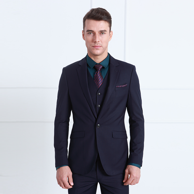 Brand Clothing Mens Prom Suits Wedding Groom Royal Blue Tuxedo ...