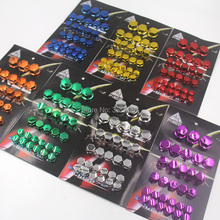 30Pcs/set FASP Motorcycle Screw Nut Bolt Cap Cover  Exterior Decoration Protection Dust Proof Special Socket