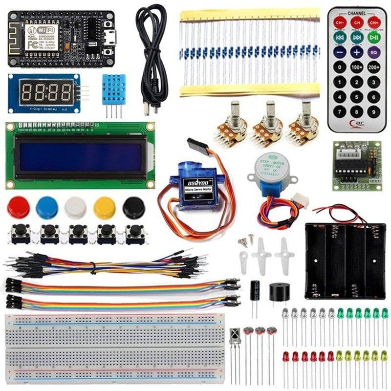 Kit de démarrage d'apprentissage de programmation de kit d'internet des objets NODEMCU IOT avec WIFI ESP8266