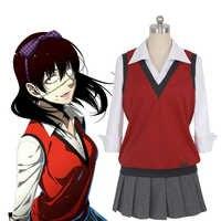 Anime Kakegurui Zwanghaften Gambler Midari Ikishima Cosplay Kostüm Japanische Schuluniform Weste Kleid Frauen Halloween JK Uniform
